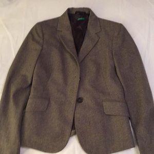 Benetton/United Colors of Benetton tweed blazer.